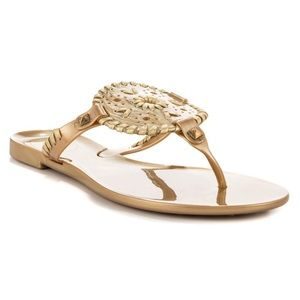 Jack Rogers Georgica Gold Jelly Sandals $35 OBO